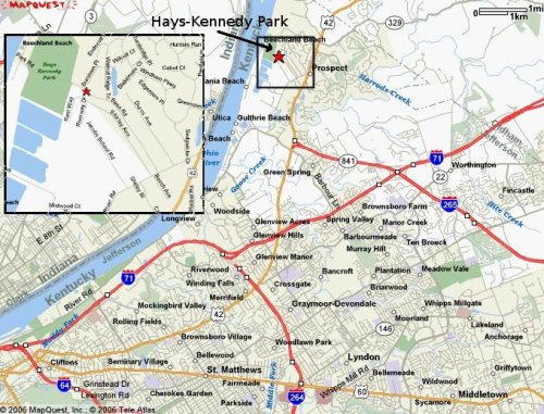 Map to Hays Kennedy Park